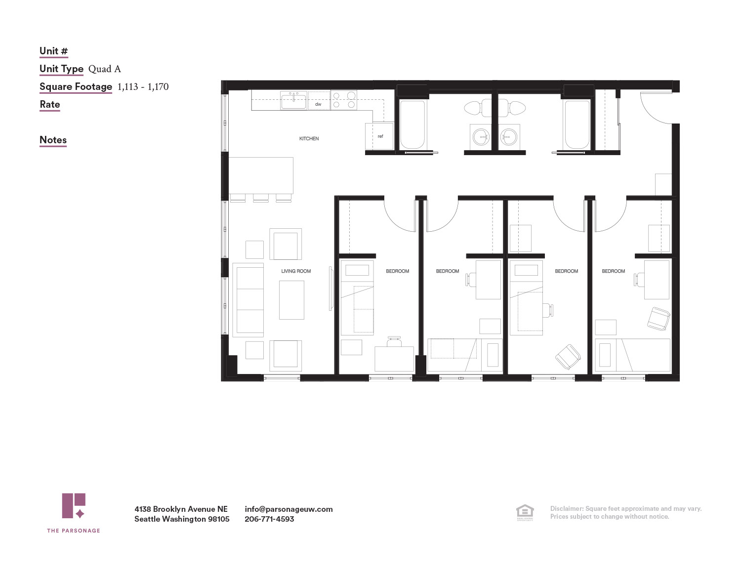 Railroad Style Apartment Floor Plan